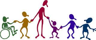 Volunteer with children.